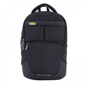 18SA-7476D Trendy mode Black University College Bogpakke Computer Rygsæk Laptop Rygsæk Daypack